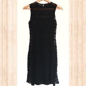 Ralph Lauren black lace overlay tank dress
